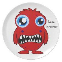 Doom Screamer Monster Kids Dinner Plates