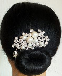 Hera  Shell Pearl and Austrian Rhinestone Bridal by labellechanson, $28.00