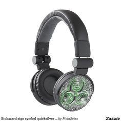 Biohazard sign symbol quicksilver glow headphones