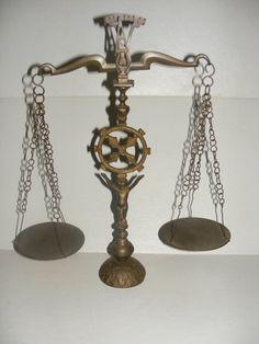 Vintage Brass Cherub Justice Scale by leftoveridea on Etsy, $25.00
