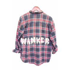 British Wanker Shirt in Bleached Plaid Flannel (€59) ❤ liked on Polyvore featuring tops, shirts, flannels, bleached shirts, tartan shirts, tartan flannel shirt, plaid shirts and tartan plaid flannel shirt
