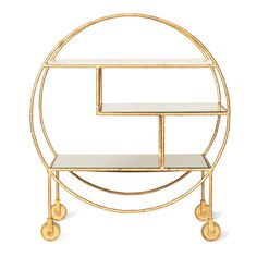 Buy the Gold Luxe Round Bamboo Drinks Trolley at Oliver Bonas. We deliver Homeware throughout the UK within 5-12 working days from £35.