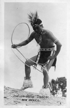 1947 Native American Indian Hoop Dancer New Mexico