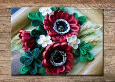 Original Paper Quilling Wall Art - A sunny summer bouquet  Popies Ears of wheat  Pot Handmade Design Decor Gift  Artwork