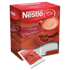 Nestlé Hot Cocoa Mix Dark Chocolate oz 70060 - Sold as 50 EA/Box. Enjoy the sweet flavor of Nestle Hot Cocoa. Nestle Chocolate, Chocolate Mugs, Hot Chocolate Mix, Chocolate Syrup, How To Make Chocolate, Chocolate Flavors, Making Chocolate, Chocolate Heaven, All You Need Is