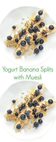 Yogurt Banana Splits with Muesli - The Lemon Bowl