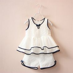 Give it a look for what we pick best for each Fashion Kids Girls Clothing Sets Teenage Summer Costume Kids Clothes Suits Cotton Lace Shirt Vest Shorts Pants - # Suits Baby Girl Dress Patterns, Little Girl Dresses, Girls Dresses, Baby Frocks Designs, Kids Frocks, Fashion Kids, Fashion Wear, Latest Fashion, Cute Baby Clothes