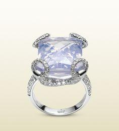 lilac quartz total 16 carats  144 diamonds, total 1.24 carats