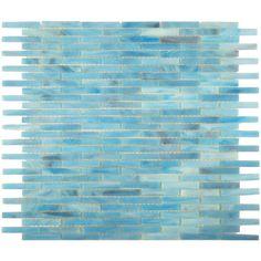 HZ6MO Ocean Blue   3/8 x 1 7/8-Glass Tile Oasis Outlet Center Backsplash 663.60