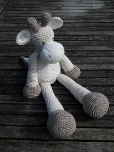 Haakinstructies - haakpatroon giraffe Punkie - Een uniek product van Marielle-Engelhart op DaWanda