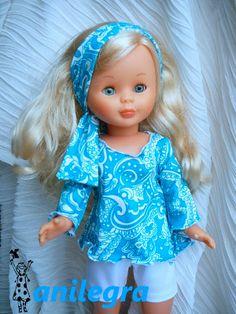 ANILEGRA COSE PARA NANCY Ag Dolls, Girl Dolls, Muñeca Diy, Pram Toys, Nancy Doll, American Girl Crafts, Ag Doll Clothes, Barbie Dress, Baby Wearing
