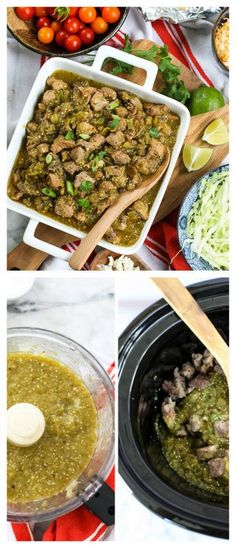 Slow Cooker Hatch Green Chile Verde from FoodieCrush; make this now if you have fresh green chiles! [Featured on SlowCookerFromScratch.com] #SlowCooker #CrockPot #GlutenFree #LowCarb