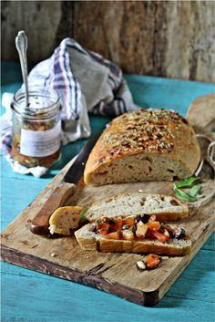 Sourdough bread with Maurizio's bruschetta topping