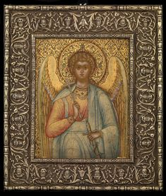Russian icon with oklad