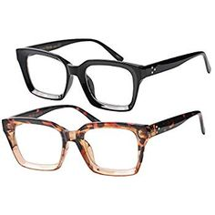 5f43046072 Amazon.com  Peepers Women s Shine On - Blue Light Filtering Reading Glasses  2542100 Square Reading Glasses