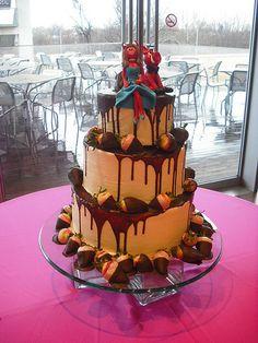 She Devil and Razorback wedding cake