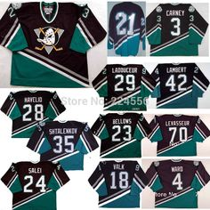 8ddff48f2 Find More Sports Jerseys Information about custom mighty ducks movie jersey  sewn on name no