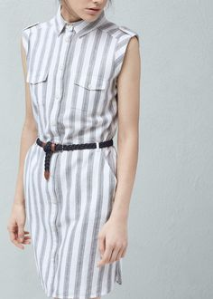 Hemdkleid aus baumwolle   MANGO