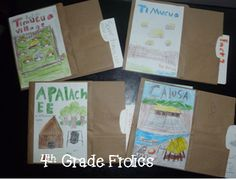 4th Grade Frolics - Paper Bag book - good for showing what they know in social studies and science.