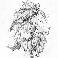 - A lion represents power, strength & courage. -A lion represents power, strength & courage. - A lion represents power, strength & courage. Lion Head Tattoos, Leo Tattoos, Future Tattoos, Animal Tattoos, Body Art Tattoos, Sleeve Tattoos, Tatoos, Female Lion Tattoo, Tattoo Girls