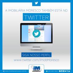 Imobiliária Moresco no Twitter. Acesse https://twitter.com/ImobMoresco