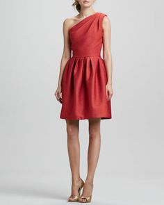 One-Shoulder Bell Dress  by Halston Heritage at Bergdorf Goodman.