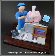 Cardiothoracic Surgeon Figurine   call the clay surgeon at 1800 231 9814 and I shall create the perfect gift for the doctor in your life $225