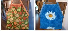 Make a cute little apron from dish towels  -perfect for little helpers in the kitchen