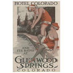 Glenwood Springs, Colorado - Hotel Colorado and Baths Poster (9x12 Art Print, Wall Decor Travel Poster)