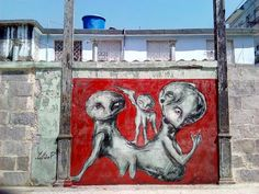 Yulier Rodriguez decorates Havana's decaying buildings with art.