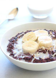 Forbidden Black Rice Breakfast Pudding | makingthymeforhealth.com #vegan #glutenfree