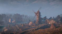 #witcher3 #cdprojektred #landscape #art #beautiful #moment #love #pic #ambience #windmill