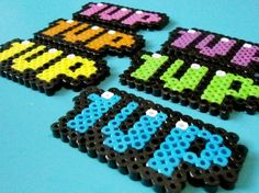 Perler Bead Sprite Magnet by warpwhistle on Etsy, Perler Bead Designs, Hama Beads Design, Diy Perler Beads, Pearler Bead Patterns, Perler Patterns, Mario E Luigi, Perler Bead Mario, Art Perle, 8bit Art