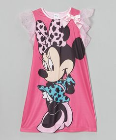 Love this Pink Minnie Mouse Nightgown - Girls on #zulily! #zulilyfinds