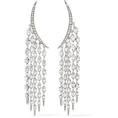 Oscar de la Renta Tendril silver-tone crystal earrings (11,370 MXN) ❤ liked on Polyvore featuring jewelry, earrings, crystal earrings, crystal jewelry, anchor earrings, silvertone jewelry and clip earrings