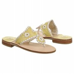 Jack Rogers Miss Navajo Tod/Pre Sandals (Yellow/White) - Kids' Sandals - 4.0 M