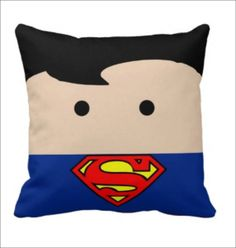 Superman Pillow, Superhero Pillow, Clark Kent Pillow