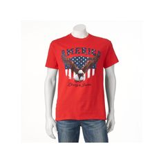 Men's Flank Eagle Tee, Size: Medium, Red