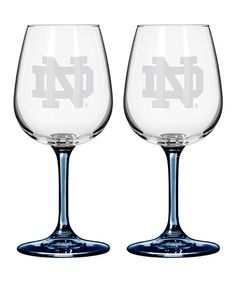 Take a look at this Notre Dame 12-Oz. Wine Glass - Set of Two by Boelter Brands on #zulily today!