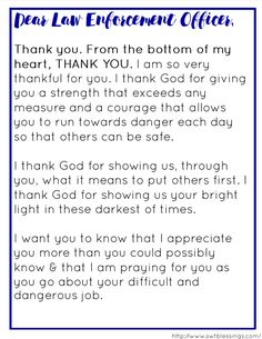Prayer for Police Officers | Law Enforcement ...