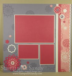 Flirtatious Scrapbook Pages 12x12 Stampin Up Page Two