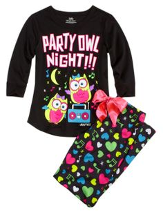 Party Owl Night pijama!! Want it for christmas!! Find it in justice!