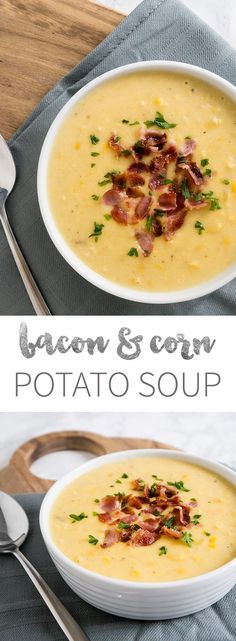 A delicious Bacon Potato Soup which is ready in 20 minutes. (Pinned over 1,200 times)