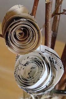 music sheet paper flower decoration