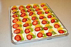 DIY: Fruit Pizza.  It's not healthy (don't let the name fool you) but it sure looks good!