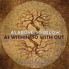 """Tree of Life-""""As above, so below"""" - """"wicca"""" Tattoo Karma, Mantra Tattoo, Magick, Witchcraft, 12 Laws Of Karma, Wayne Dyer, Book Of Shadows, Sacred Geometry, Occult"""