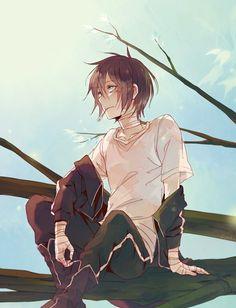 Yato (Noragami) - Fanart by Ryethe He's always so damn cute Anime Noragami, Yatogami Noragami, Yato And Hiyori, Haikyuu Anime, Manga Boy, Art Manga, Chica Anime Manga, Anime Cosplay, Cute Anime Boy