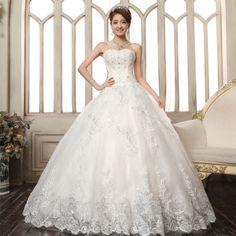 2014 wedding formal dress the bride wedding dress diamond strap white princess lace train