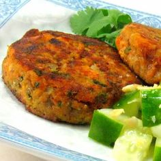 Thai Fish Cake with Cucumber Relish - could possibly make this with oatmeal.