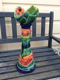 Stunning Katie Gold Vibrant Boat Piece - S=R! Watermelon, Vibrant, Pottery, Boat, Ceramica, Dinghy, Pottery Marks, Boats, Ceramic Pottery